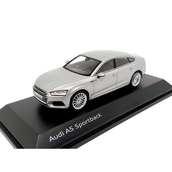 Model car Audi A5 Sportback 2017 silver 1:43