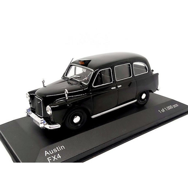 Austin FX4 1:43 Taxi zwart | WhiteBox