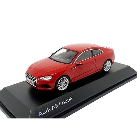 Audi A5 Coupe 2017 Tango red - Model car 1:43