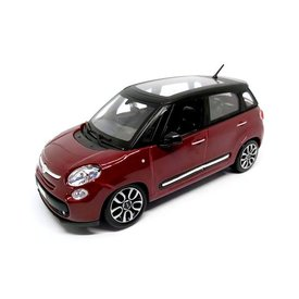Bburago Fiat 500L dark red/black - Model car 1:24