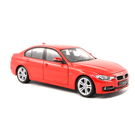 Welly BMW 335i (F30) rood - Modelauto 1:24