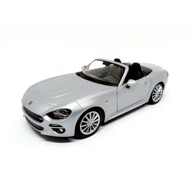 Bburago Fiat 124 Spider grey - Model car 1:24