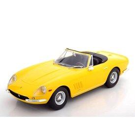 KK-Scale Ferrari 275 GTB/4 NART Spyder gelb mit Speichenfelgen - Modellauto 1:18