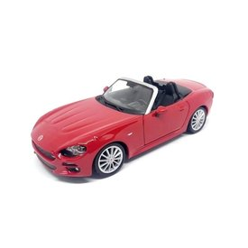 Bburago Fiat 124 Spider red - Model car 1:24