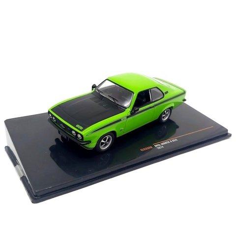 Opel Manta A GT/E 1974 groen/zwart - Modelauto 1:43