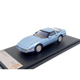 Premium X Model car Chevrolet Corvette C4 1984 light blue metallic 1:43