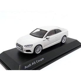 Spark Model car Audi A5 Coupe 2017 Glacier white 1:43
