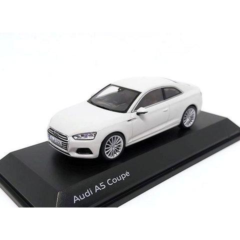 Audi A5 Coupe 2017 Glacier white - Model car 1:43
