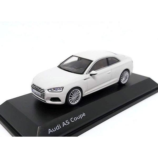 Model car Audi A5 Coupe 2017 Glacier white 1:43
