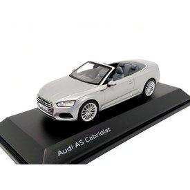 Spark Model car Audi A5 Cabriolet 2017 silver 1:43