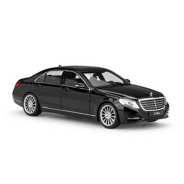 Modelauto Mercedes Benz S-Klasse (W222) zwart 1:24