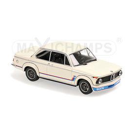Maxichamps BMW 2002 Turbo 1973 wit - Modelauto 1:43