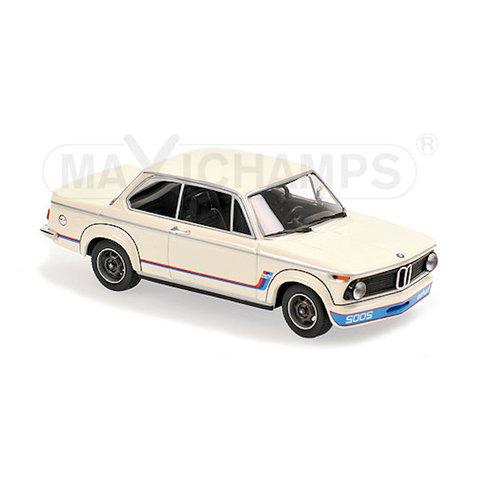 BMW 2002 Turbo 1973 wit - Modelauto 1:43