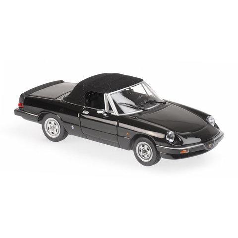 Alfa Romeo Spider 1983 zwart - Modelauto 1:43