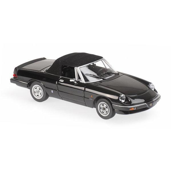 Modellauto Alfa Romeo Spider 1983 schwarz 1:43