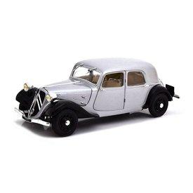 Solido Citroën Traction Avant 11CV 1937 zilver/zwart - Modelauto 1:18