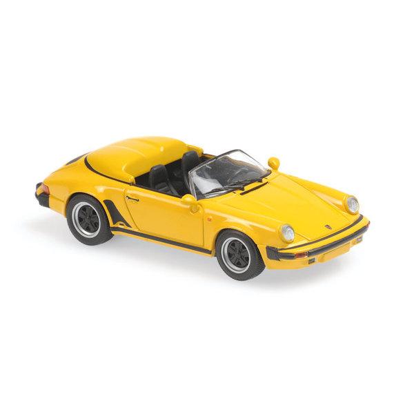 Modelauto Porsche 911 Speedster 1988 geel 1:43