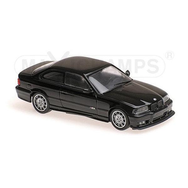 Modelauto BMW M3 E36  1992 zwart 1:43