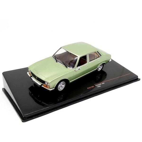 Model car Peugeot 504 1969 green metallic 1:43