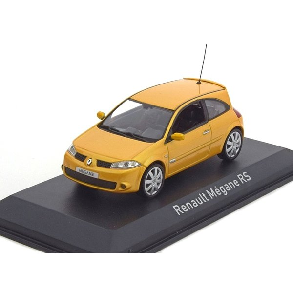 Modelauto Renault Megane RS 2004 geel metallic 1:43