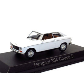 Norev Peugeot 304 Coupe S 1974 wit - Modelauto 1:43