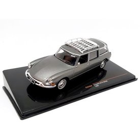 Ixo Models Citroën ID 19 Break 1960 grey metallic - Model car 1:43
