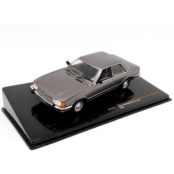 Model car Ford Granada Mk II 2.8 GL 1982 grey metallic 1:43