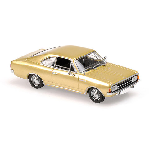 Opel Rekord C Coupe 1966 goud - Modelauto 1:43