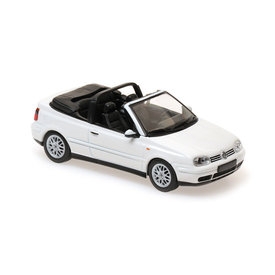 Maxichamps Volkswagen VW Golf IV Cabriolet 1998 wit - Modelauto 1:43