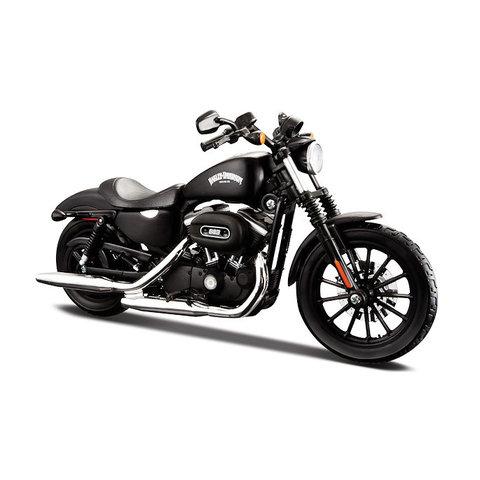 Harley Davidson Sportster Iron 883 2014 zwart - Modelmotor 1:12