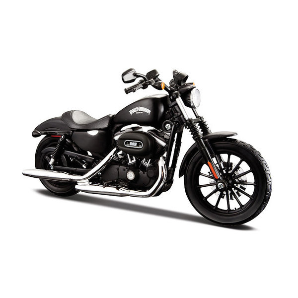 Model motorcycle Harley Davidson Sportster Iron 883 2014 black 1:12