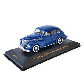 Ixo Models Opel Kapitän 4-deurs Sedan 1950 blauw - Modelauto 1:43