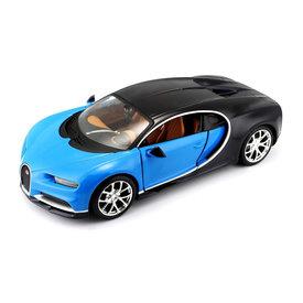 Maisto Bugatti Chiron blauw/donkerblauw - Modelauto 1:24
