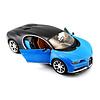 Model car Bugatti Chiron blue/dark blue 1:24