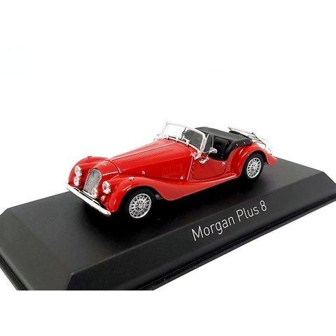 Morgan Plus 8 1980 rood - Modelauto 1:43