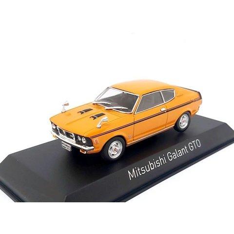 Mitsubishi Galant GTO 1970 oranje - Modelauto 1:43