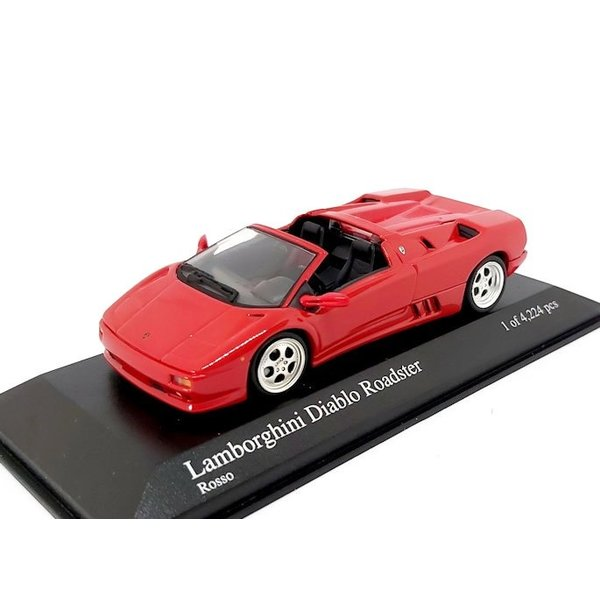 Model car Lamborghini Diablo Roadster 1994 red 1:43   Minichamps