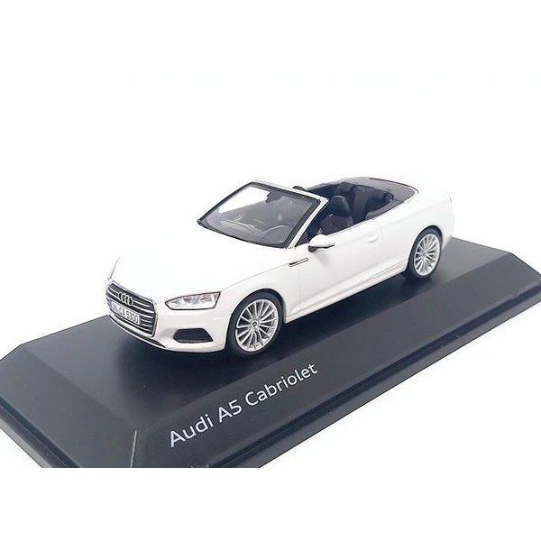 Model car Audi A5 Cabriolet 2017 Tofana white 1:43