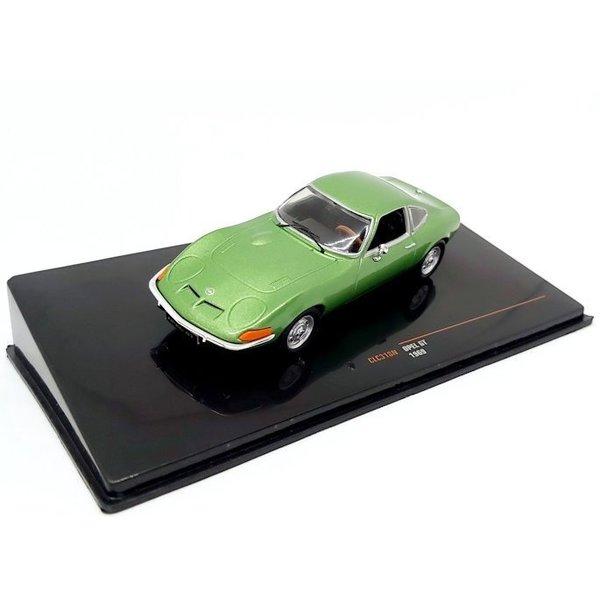 Modelauto Opel GT 1969 groen metallic 1:43