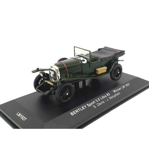Bentley Sport 3.0 liter No. 3 1927 groen - Modelauto 1:43