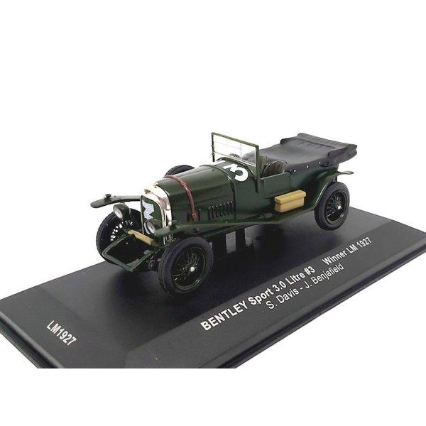 Model car Bentley Sport 3.0 litre No. 3 1927 green 1:43