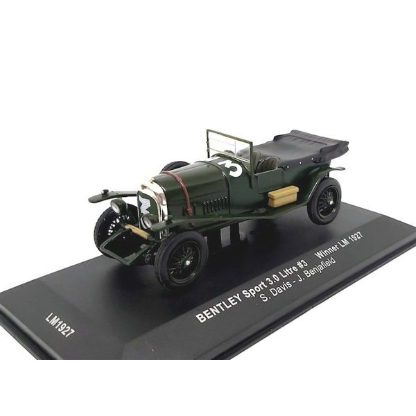 Modellauto Bentley Sport 3.0 liter No. 3 1927 grün 1:43