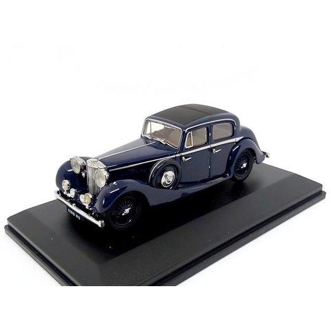 Jaguar SS 2.5 Saloon donkerblauw - Modelauto 1:43