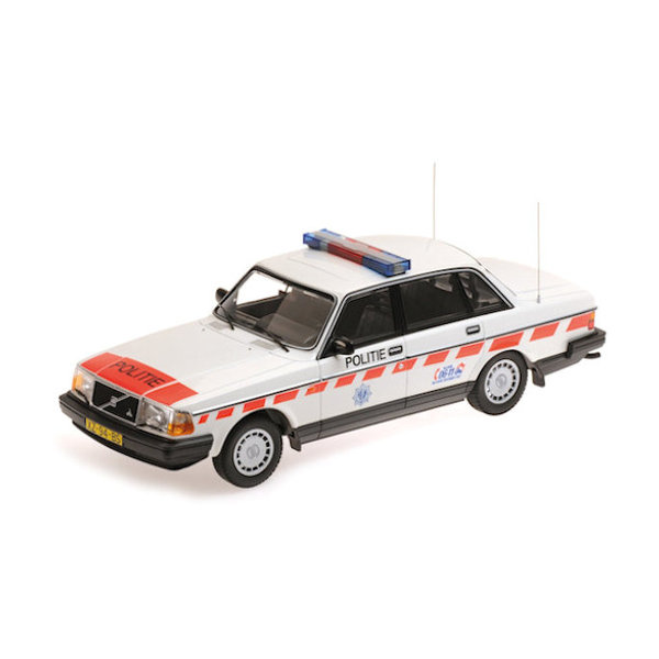 Model car Volvo 240 GL 1986 Police Netherlands 1:18