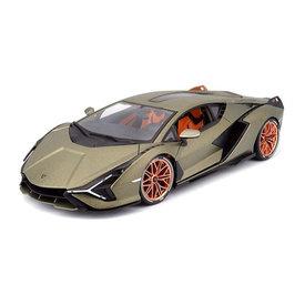 Bburago Lamborghini Sian FKP 37 2019 goudgroen metallic - Modelauto 1:18