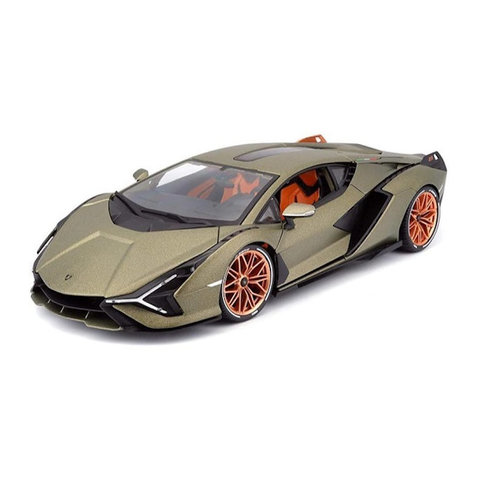 Lamborghini Sian FKP 37 2019 gold green  metallic - Model car 1:18