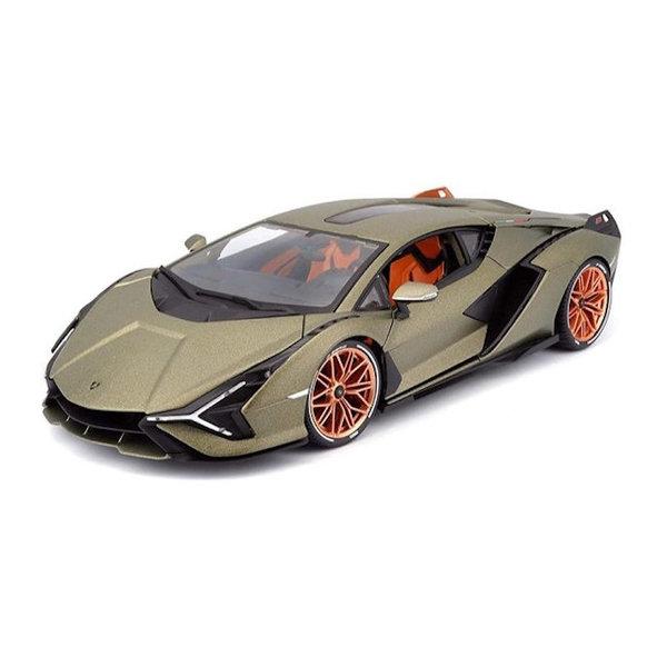 Model car Lamborghini Sian FKP 37 2019 gold green  metallic 1:18