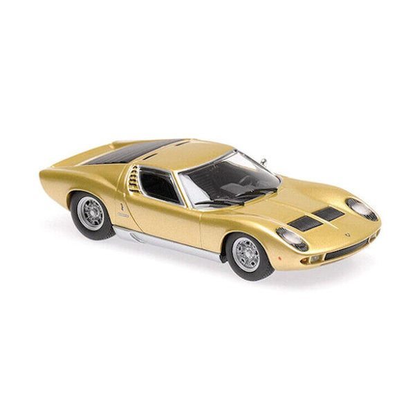 Model car Lamborghini Miura 1966 gold 1:43