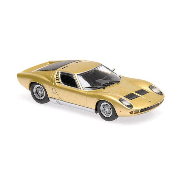 Modelauto Lamborghini Miura 1966 goud 1:43   Maxichamps