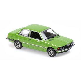 Maxichamps BMW 323i (E21) 1975 groen - Modelauto 1:43